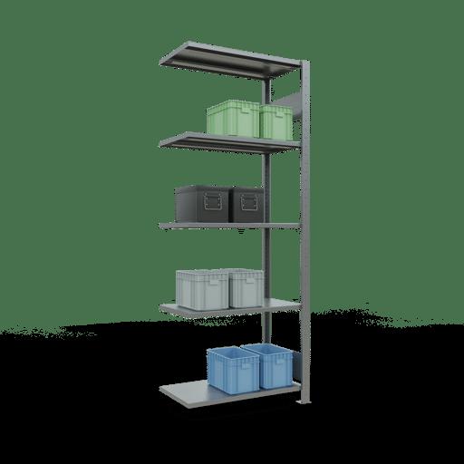 Steckregal Anbauregal  2000x 750×300 mm, Fachlast 250 kg mit Längenriegel SCHULTE Lagertechnik