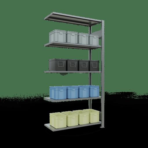 Steckregal Anbauregal  2000x1000x400 mm,  Fachlast 150 kg mit Längenriegel SCHULTE Lagertechnik