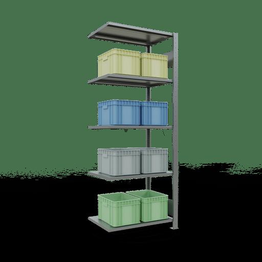 Steckregal Anbauregal  2000x 750×500 mm,  Fachlast 150 kg mit Längenriegel SCHULTE Lagertechnik