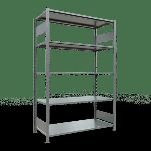 Steckregal Grundregal  2000x1300x600 mm,   Fachlast 150 kg Rahmen montiert mit Längenriegel SCHULTE Lagertechnik