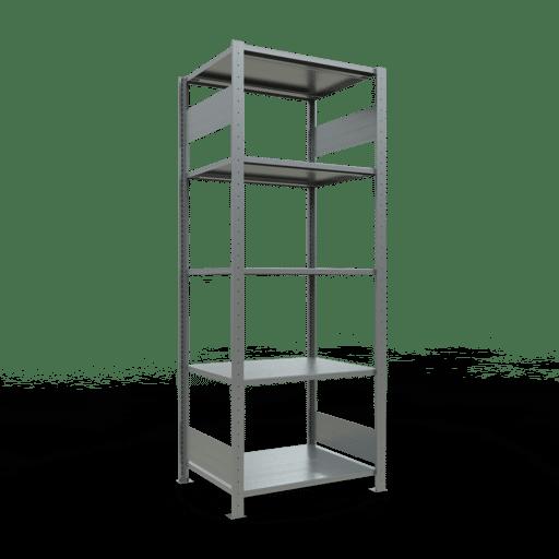 Steckregal Grundregal  2000x 750×600, Fachlast 150 kg  Rahmen montiert mit Längenriegel SCHULTE Lagertechnik