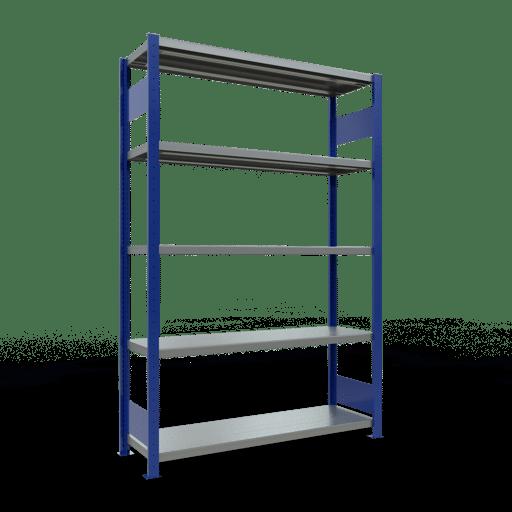 Steckregal Grundregal  2000x1300x400 mm, Fachlast 250 kg Rahmen montiert mit Längenriegel SCHULTE Lagertechnik