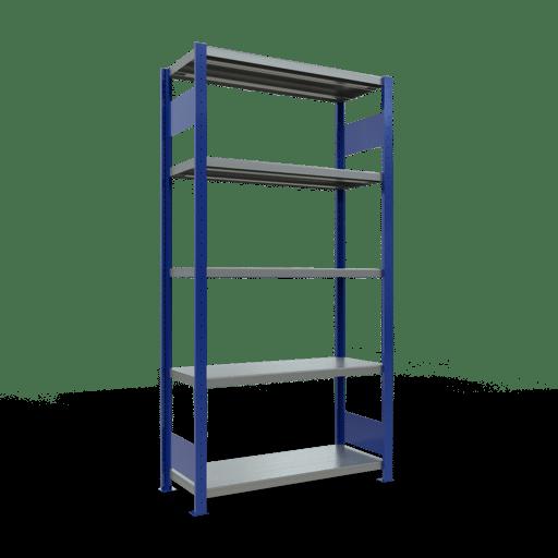 Steckregal Grundregal  2000x1000x400 mm, Fachlast 250 kg mit Längenriegel SCHULTE Lagertechnik