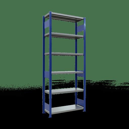 Steckregal Grundregal  2500x1000x400 mm, Fachlast 250 kg Rahmen montiert mit Längenriegel SCHULTE Lagertechnik