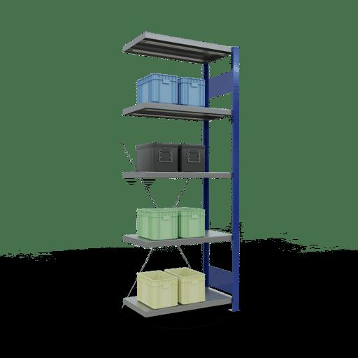 Steckregal Anbauregal 2000x750x400 mm Fachlast 250 kg Rahmen montiert 5 Fachböden SCHULTE Lagertechnik