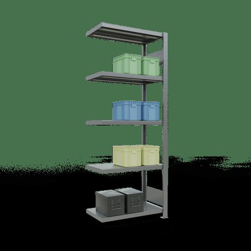 Steckregal Anbauregal  2000x 750×400 mm, Fachlast 250 kg mit Längenriegel SCHULTE Lagertechnik