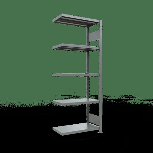 Steckregal Anbauregal  2000x 750×400, Fachlast 250 kg  Rahmen montiert mit Längenriegel SCHULTE Lagertechnik