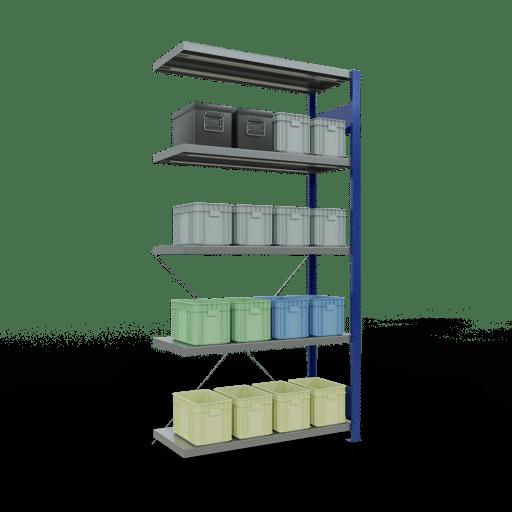Steckregal Anbauregal 2000x1000x400 mm Fachlast 250 kg Rahmen montiert 5 Fachböden SCHULTE Lagertechnik