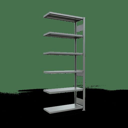 Steckregal Anbauregal  2500x1000x400 mm, Fachlast 250 kg mit Längenriegel SCHULTE Lagertechnik
