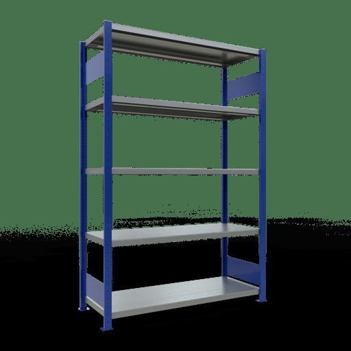 Steckregal Grundregal  3000x1300x500 mm, Fachlast 250 kg Rahmen montiert mit Längenriegel SCHULTE Lagertechnik
