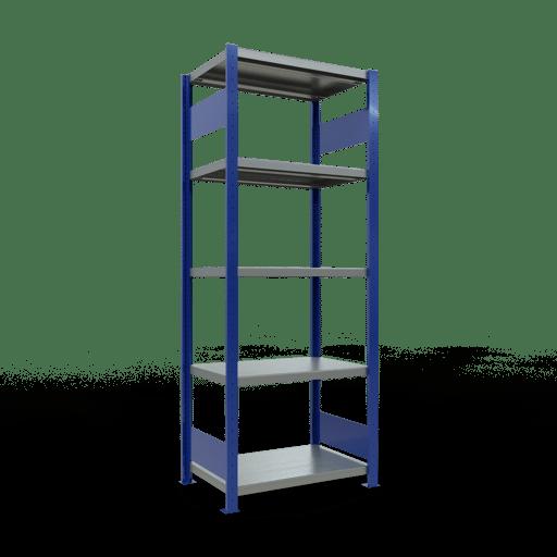 Steckregal Grundregal  2000x 750×500 mm, Fachlast 250 kg Rahmen montiert mit Längenriegel SCHULTE Lagertechnik