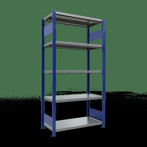 Steckregal Grundregal  2000x1000x500 mm, Fachlast 250 kg mit Längenriegel SCHULTE Lagertechnik