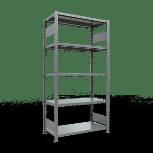 Steckregal Grundregal  2000x1000x500mm,Fachlast 250 kg Rahmen montiert mit Längenriegel SCHULTE Lagertechnik