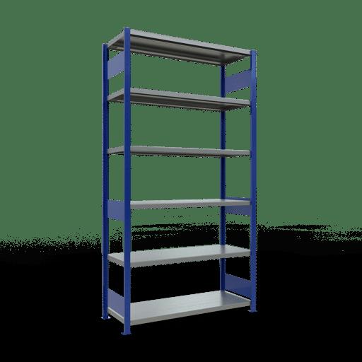 Steckregal Grundregal  2500x1300x500 mm, Fachlast 250 kg mit Längenriegel SCHULTE Lagertechnik