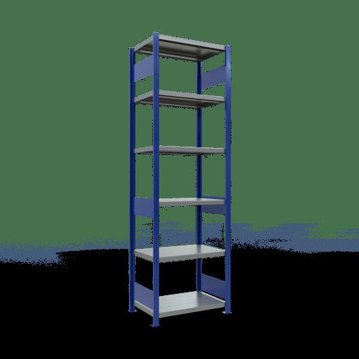 Steckregal Grundregal  2500x 750×500 mm, Fachlast 250 kg Rahmen montiert mit Längenriegel SCHULTE Lagertechnik
