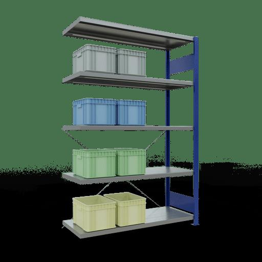 Steckregal Anbauregal 2000x1300x500 mm Fachlast 250 kg Rahmen montiert 5 Fachböden SCHULTE Lagertechnik