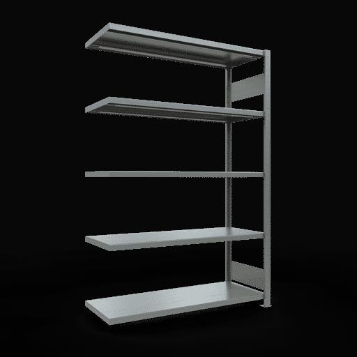 Steckregal Anbauregal  2000x1300x500 mm, Fachlast 250 kg Rahmen montiert mit Längenriegel SCHULTE Lagertechnik