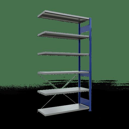 Steckregal Anbauregal 2500x1300x500 mm Fachlast 250 kg Rahmen montiert 6 Fachböden SCHULTE Lagertechnik
