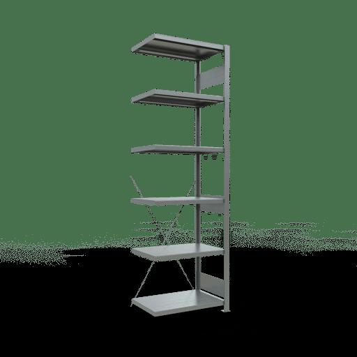 Steckregal Anbauregal 2500x750x500 mm Fachlast 250 kg Rahmen montiert 6 Fachböden SCHULTE Lagertechnik