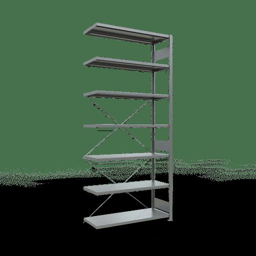 Steckregal Anbauregal 3000x1300x500 mm Fachlast 250 kg 7 Fachböden SCHULTE Lagertechnik