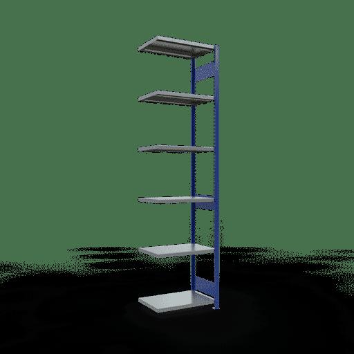 Steckregal Anbauregal  3000x 750×500 mm, Fachlast 250 kg mit Längenriegel SCHULTE Lagertechnik