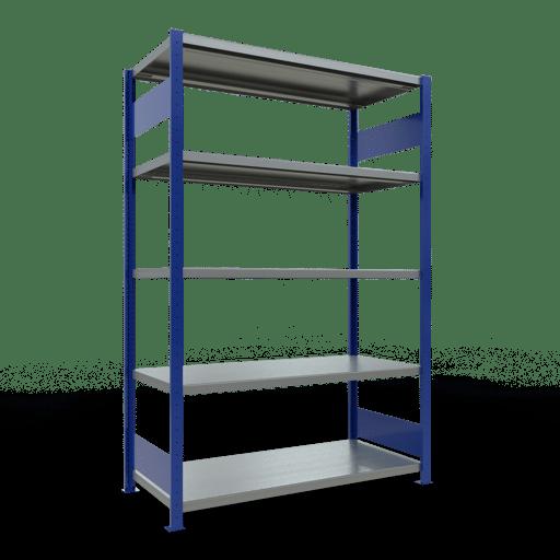 Steckregal Grundregal  2000x1300x600 mm, Fachlast 250 kg Rahmen montiert mit Längenriegel SCHULTE Lagertechnik