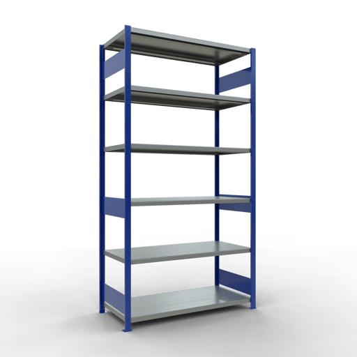 Steckregal Grundregal  2500x1300x600 mm, Fachlast 250 kg Rahmen montiert mit Längenriegel SCHULTE Lagertechnik
