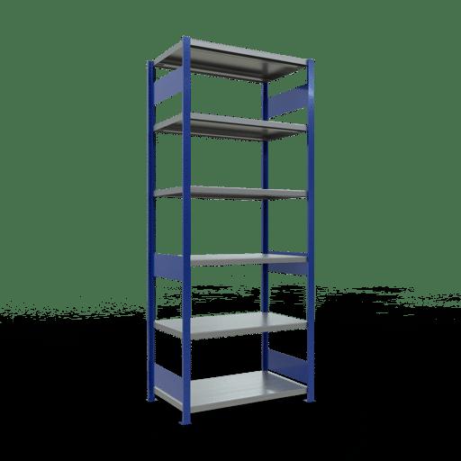 Steckregal Grundregal  2500x1000x600 mm, Fachlast 250 kg Rahmen montiert mit Längenriegel SCHULTE Lagertechnik