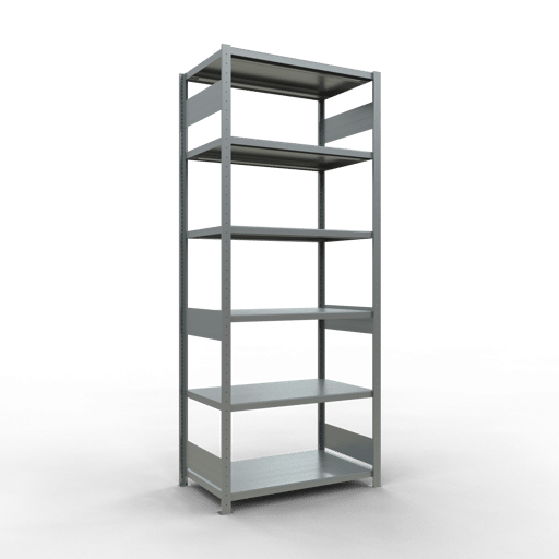 Steckregal Grundregal  2500x1000x600 mm, Fachlast 250 kg mit Längenriegel SCHULTE Lagertechnik