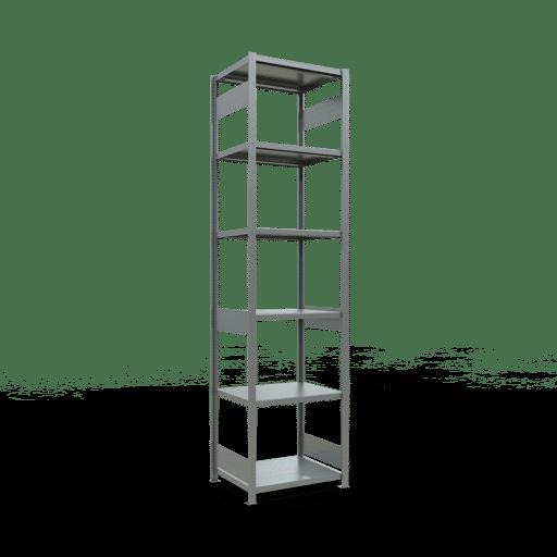 Steckregal Grundregal  3000x 750×600 mm, Fachlast 250 kg mit Längenriegel SCHULTE Lagertechnik