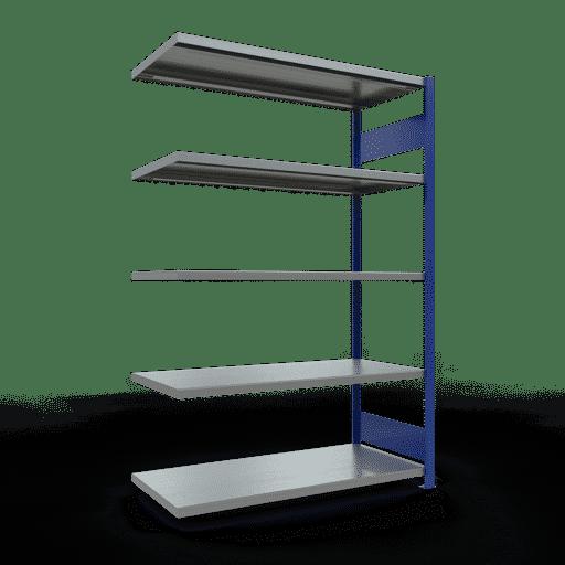 Steckregal Anbauregal  2000x1300x600 mm, Fachlast 250 kg mit Längenriegel SCHULTE Lagertechnik