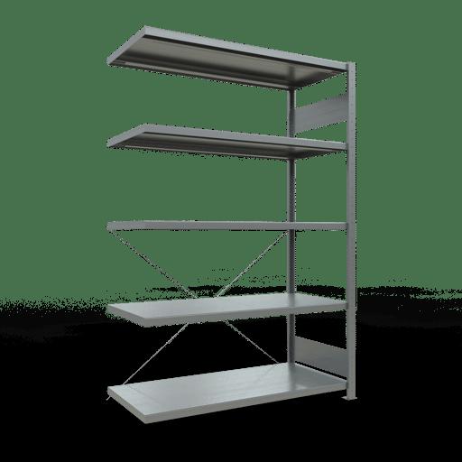 Steckregal Anbauregal 2000x1300x600 mm Fachlast 250 kg Rahmen montiert 5 Fachböden SCHULTE Lagertechnik