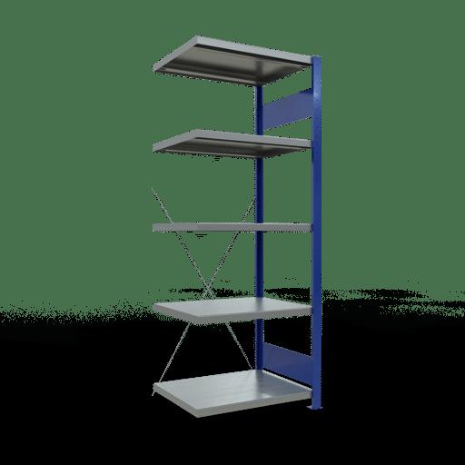 Steckregal Anbauregal 2000x750x600 mm Fachlast 250 kg Rahmen montiert 5 Fachböden SCHULTE Lagertechnik
