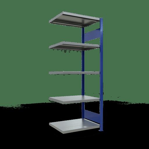 Steckregal Anbauregal  2000x 750×600 mm, Fachlast 250 kg Rahmen montiert mit Längenriegel SCHULTE Lagertechnik