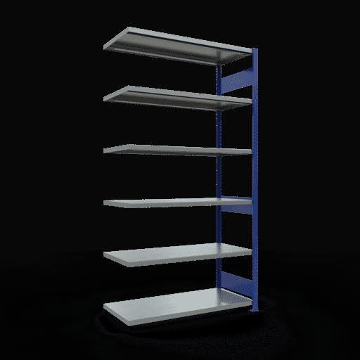 Steckregal Anbauregal  2500x1300x600 mm, Fachlast 250 kg mit Längenriegel SCHULTE Lagertechnik
