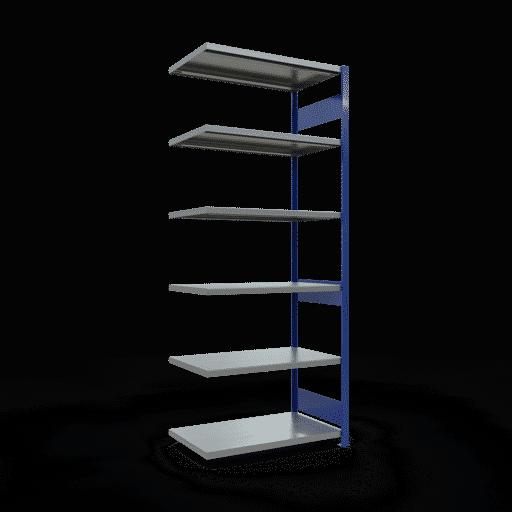 Steckregal Anbauregal  2500x 750×600 mm, Fachlast 250 kg mit Längenriegel SCHULTE Lagertechnik