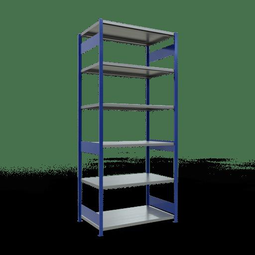 Steckregal Grundregal  3000x1300x800 mm, Fachlast 250 kg mit Längenriegel SCHULTE Lagertechnik