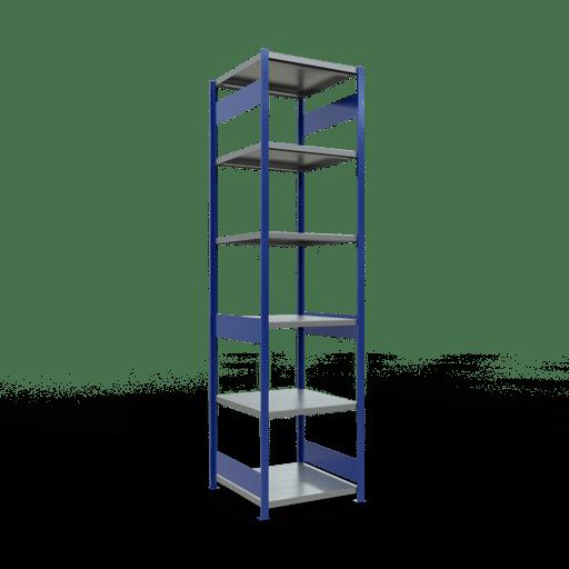 Steckregal Grundregal  3000x 750×800 mm, Fachlast 250 kg mit Längenriegel SCHULTE Lagertechnik