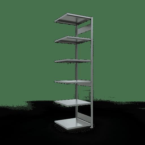 Steckregal Anbauregal  3000x 750×800 mm, Fachlast 250 kg mit Längenriegel SCHULTE Lagertechnik