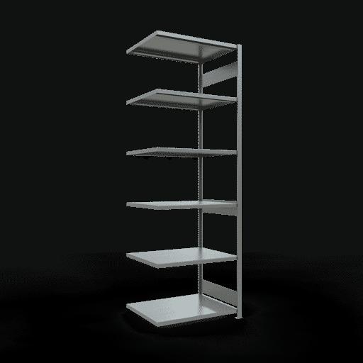 Steckregal Anbauregal  3000x1000x800 mm, Fachlast 250 kg mit Längenriegel SCHULTE Lagertechnik