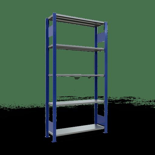 Steckregal Grundregal 2000x1000x300 mm, Fachlast 85 kg Rahmen montiert mit Längenriegel SCHULTE Lagertechnik