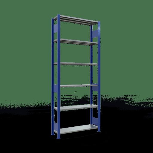 Steckregal Grundregal  2500x1000x300 mm, Fachlast 85 kg Rahmen montiert mit Längenriegel SCHULTE Lagertechnik