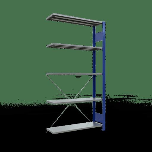 Steckregal Anbauregal 2000x1000x300 mm Fachlast 85 kg Rahmen montiert 5 Fachböden SCHULTE Lagertechnik