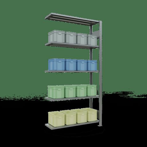 Steckregal Anbauregal  2000x1000x300 mm, Fachlast 85 kg mit Längenriegel SCHULTE Lagertechnik