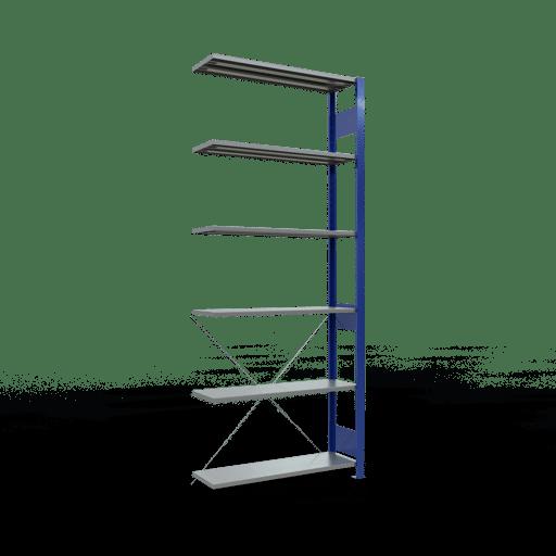 Steckregal Anbauregal 2500x1000x300 mm Fachlast 85 kg Rahmen montiert 6 Fachböden SCHULTE Lagertechnik