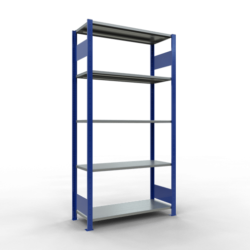 Steckregal Grundregal  2000x1000x400 mm, Fachlast 85 kg mit Längenriegel SCHULTE Lagertechnik