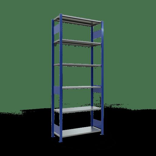 Steckregal Grundregal  2500x1000x400 mm, Fachlast 85 kg Rahmen montiert mit Längenriegel SCHULTE Lagertechnik