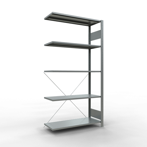 Steckregal Anbauregal 2000x1000x400 mm Fachlast 85 kg Rahmen montiert 5 Fachböden SCHULTE Lagertechnik