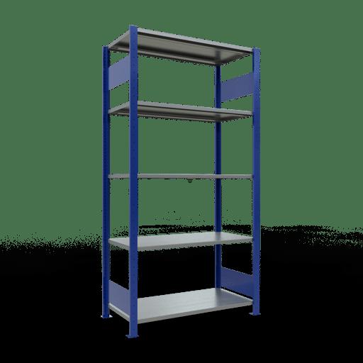 Steckregal Grundregal  2000x1000x500 mm, Fachlast 85 kg Rahmen montiert mit Längenriegel SCHULTE Lagertechnik