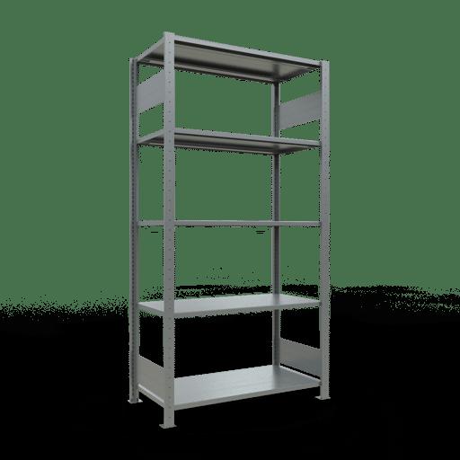 Steckregal Grundregal  2000x1000x500mm, Fachlast 85 kg Rahmen montiert mit Längenriegel SCHULTE Lagertechnik